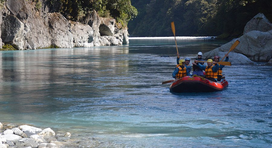 The Landsborough is a truly remote, seldom-rafted river with huge, snow-capped mountains as its backdrop.