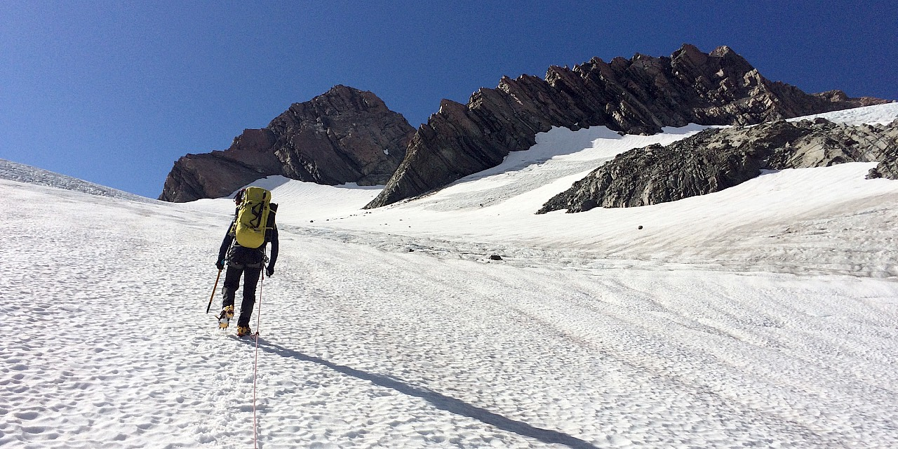 Ascending the Sladden Glacier